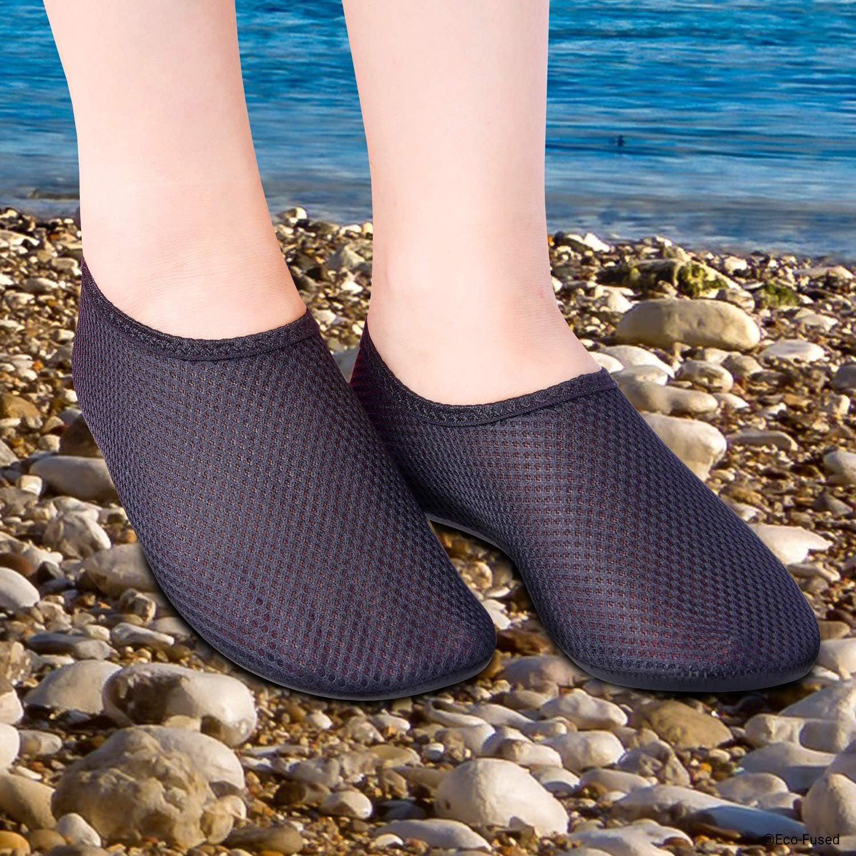 Calzado f/ácil para la Piscina//Playa Conchas Rocas El/ástica y de Secado R/ápido con Suela de Goma Antideslizante Eco-Fused Zapatos de Agua con Tela Transpirable Rayos UV Protege contra la Arena
