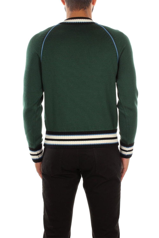 SMM842BOTTIGLIALANA Prada Sweatshirts Men Wool Green
