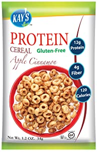 Kay's Natural Protein Cereal - Apple Cinnamon Flavor, 1.2-Ounce (Pack of 12)