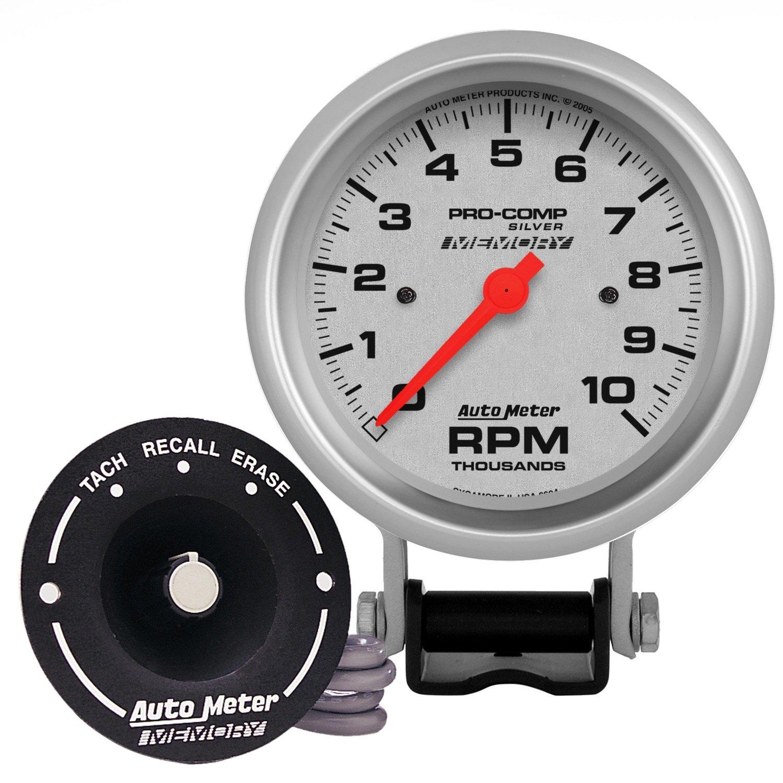 Auto Meter 6604 Pro-Comp Silver Electric Tachometer