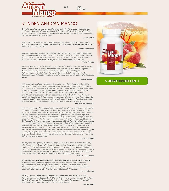 Eigenschaften der afrikanischen Mango zur Gewichtsreduktion