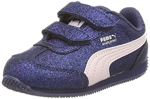 Puma Whirlwind Glitz V Inf, Sneakers Basses Fille: