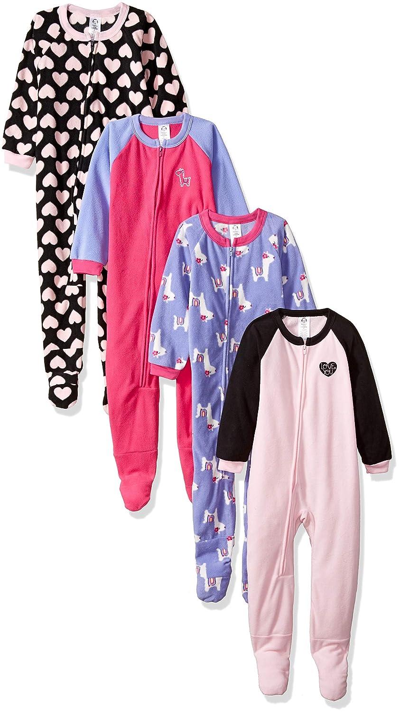Gerber Girls' Toddler 4-Pack Blanket Sleeper,