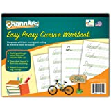 Channie's Easy Peasy Cursive Tracing & Writing Practice Workbook, 80 Pages Front & Back, 40 Sheets, Grades 1st – 3rd…