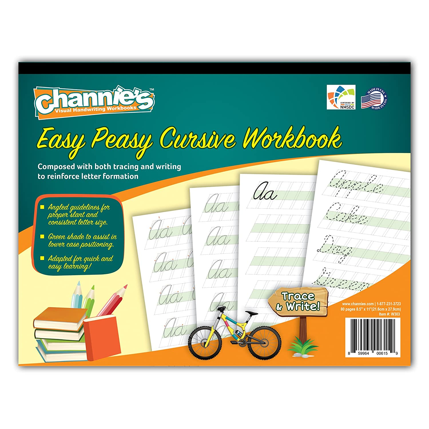 Amazon Most Visual Cursive Workbook Simple & easy Channie s