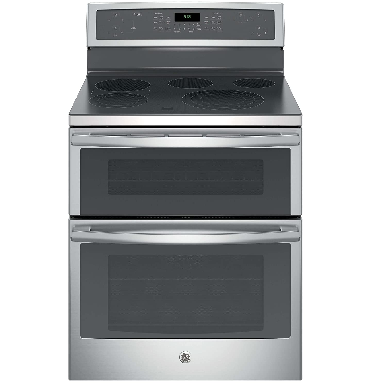 "GE PB960SJSS Profile 30"" Stainless Steel Electric Smoothtop Double Oven Range - Convection"
