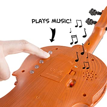 Amazon.com: Musical Toy Violin With Bow Battery-operated By Hey ...