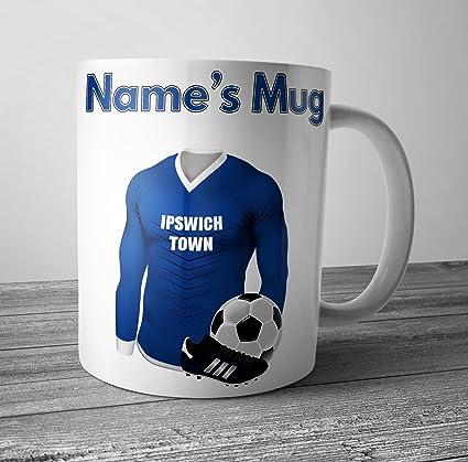 Ipswich Town de balón de fútbol taza – personalizado regalo ...