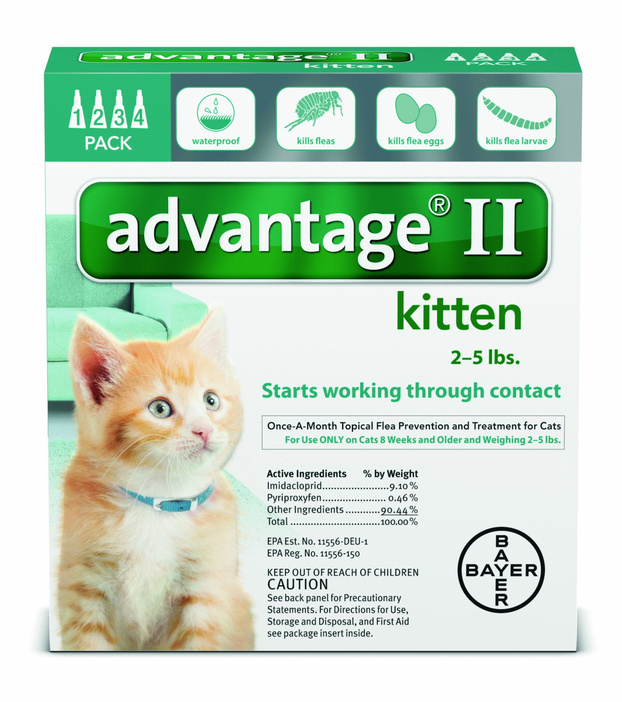 Advantage Ii Turquoise Kitten 4pk By BND