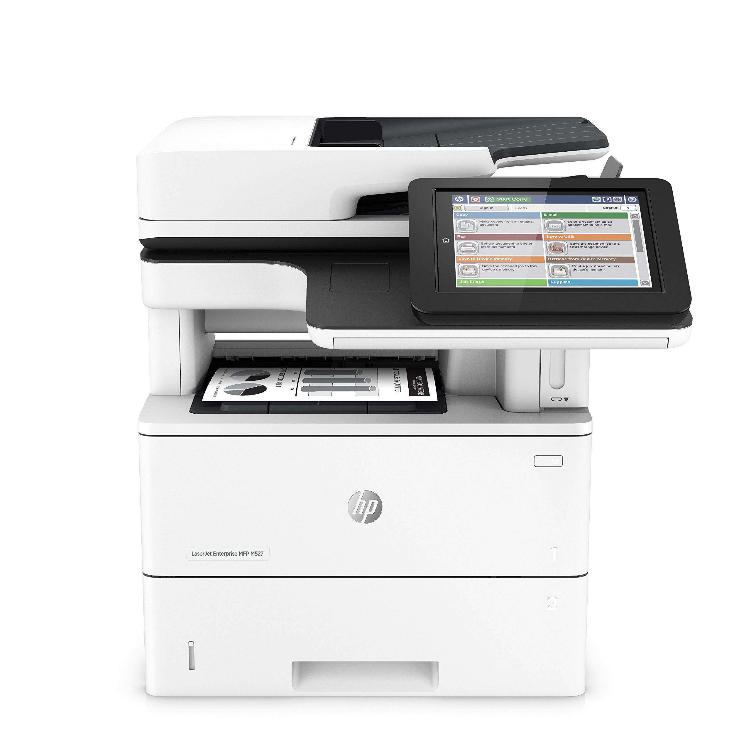 LASERJET ENT MFP M527F MONO LASER S/P/C/F 43/45PPM A4 Printer by HP