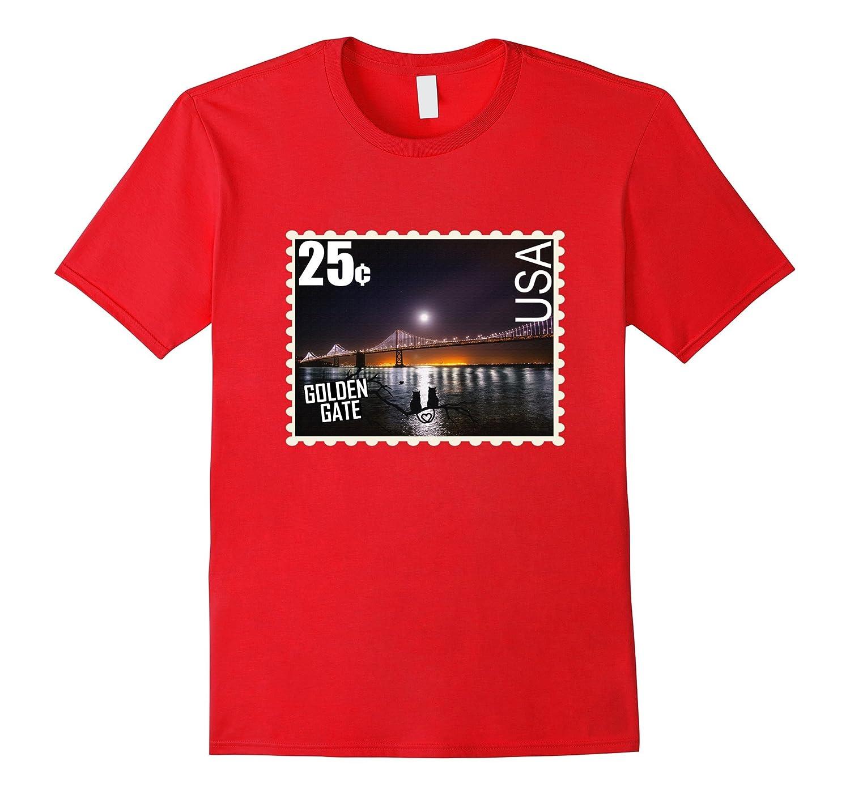 Golden Gate Bridge T shirt San Francisco Mail Stamp Shirt-FL