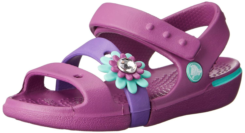 nowy autentyczny Gdzie mogę kupić Kod kuponu crocs Girl's Keeley Petal Charm PS Fashion Sandals