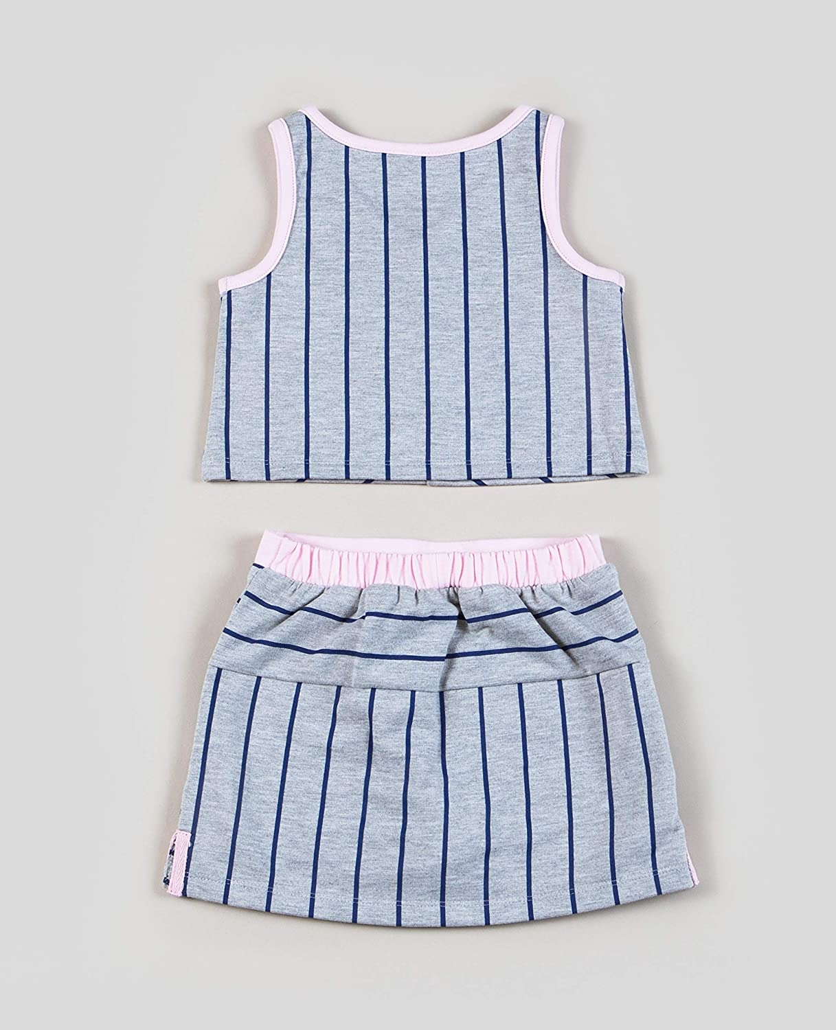 Girls Striped French Terry TOP and Skort