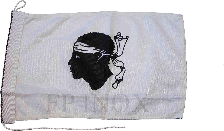 30x19cm Drapeau FP INOX Pavillon Corse