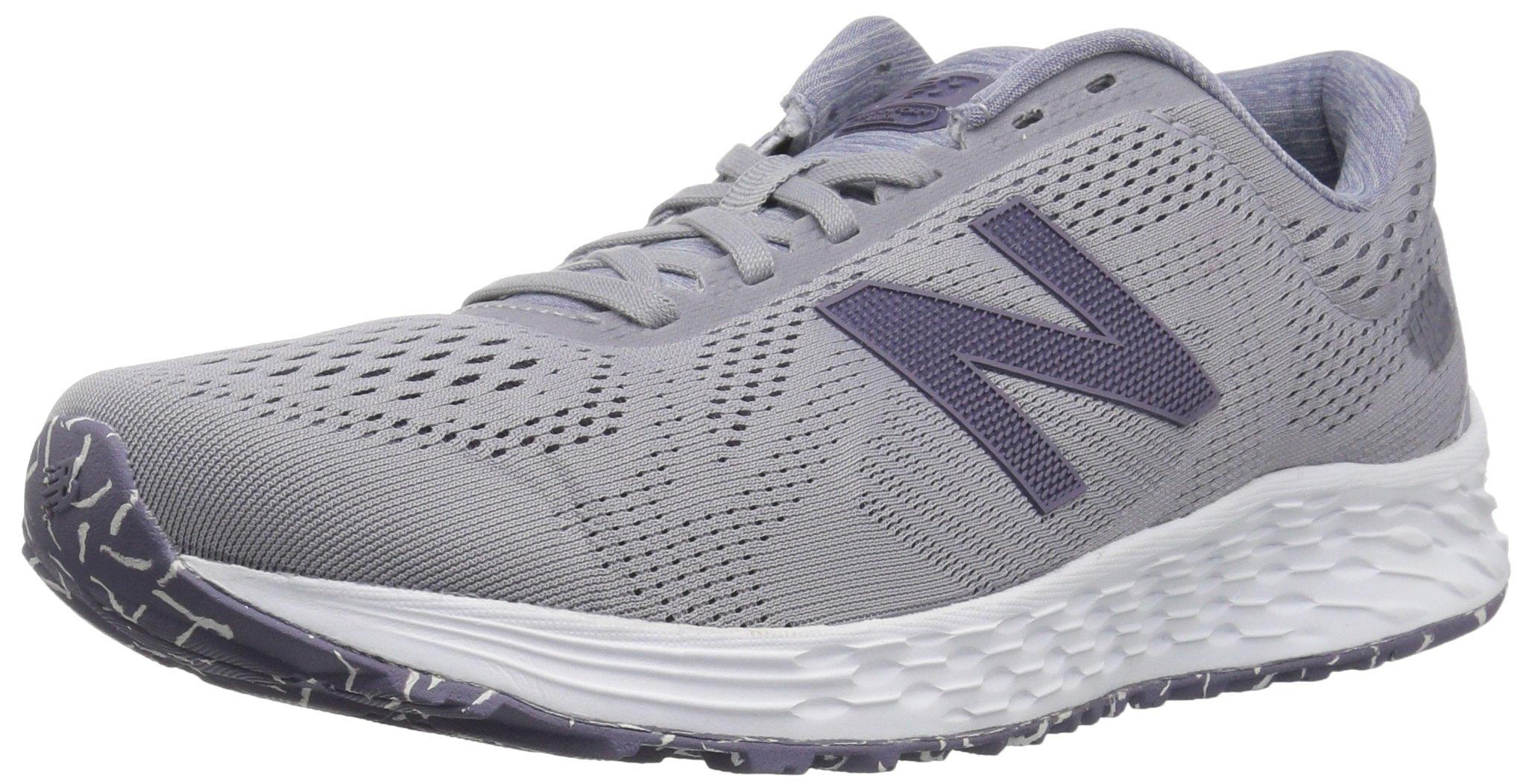 New Balance Women's Fresh Foam Arishi V1 Running Shoe, Light Grey/Purple, 5 B US