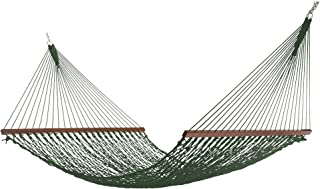 product image for Hatteras HammocksDeluxe DuracordRope Hammock with Free Extension Chains & Tree Hooks, Handcrafted in The USA, Accommodates 2 People, 450 LB Weight Capacity, 13 ft. x 60 in.