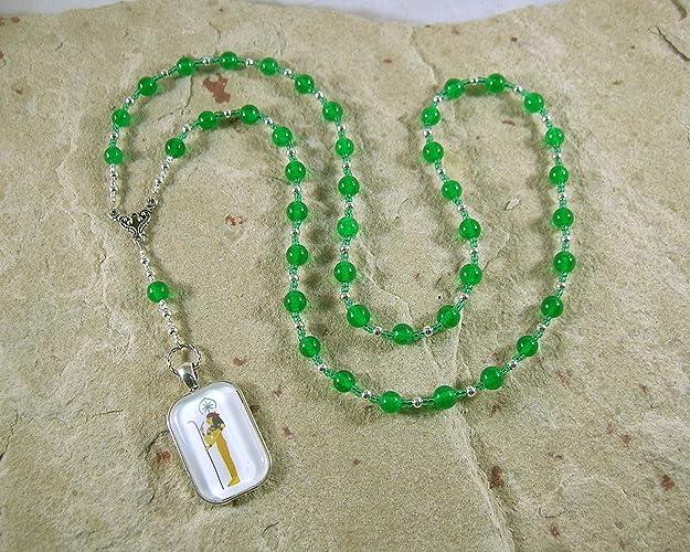 Amazon Seshet Seshat Prayer Bead Necklace In Green Agate