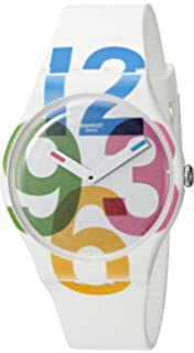 Swatch Womens Quartz White Casual Watch (Model: SUOW117)