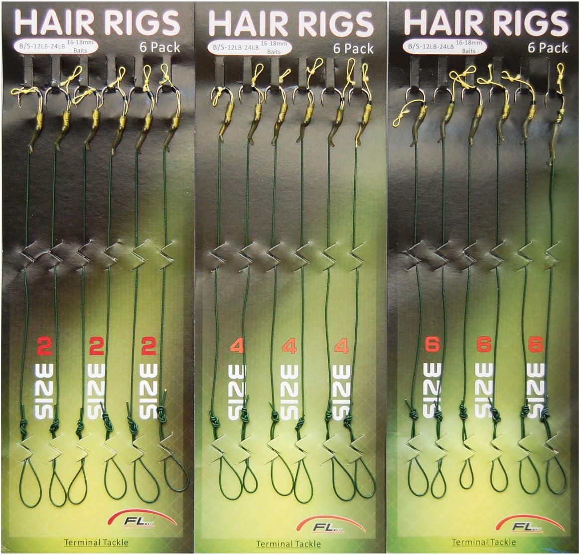 2 Pcs Carp Fishing Hair Rig Metal Fishing Hook Braided lines Terminal Tackle