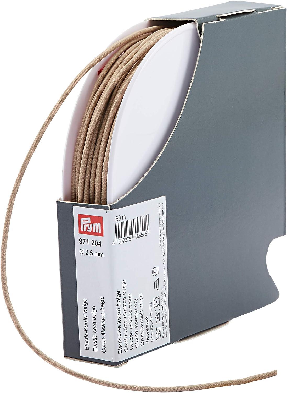 Prym 971204 Cordon /élastique Beige 2,5 mm 60/% ED 40/% PES /Ø