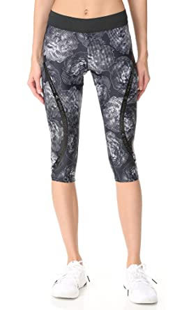 9b7dc9a2d5afb adidas by Stella McCartney Women's Run Climate 3/4 Leggings, Black, Small