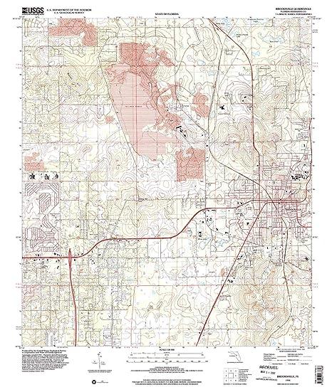 Brooksville Fl Map Amazon.: YellowMaps Brooksville FL topo map, 1:24000 Scale