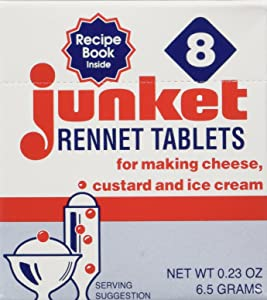 One Box of 8 Junket Rennet Tablets (net wt 0.23 oz)