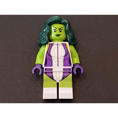 LEGO Marvel Super Heroes Green She Hulk Minifigure from Set 76078: Toys & Games