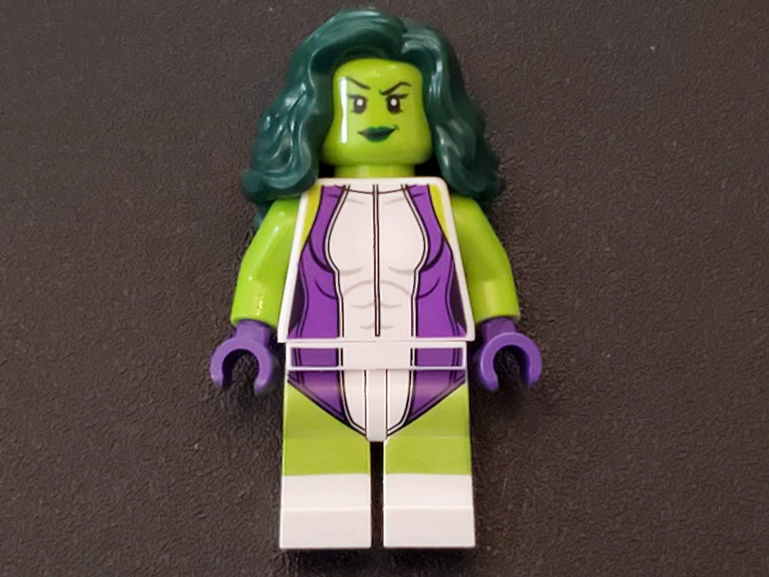 LEGO Marvel Super Heroes Green She Hulk Minifigure from Set 76078