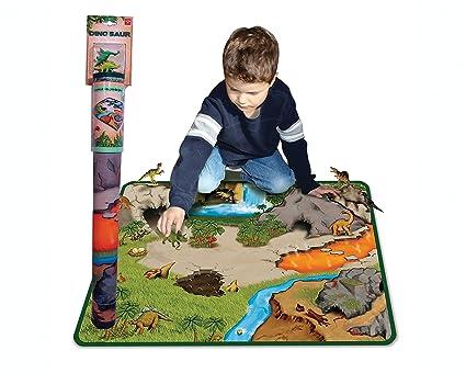 fabric dinosaur play mat