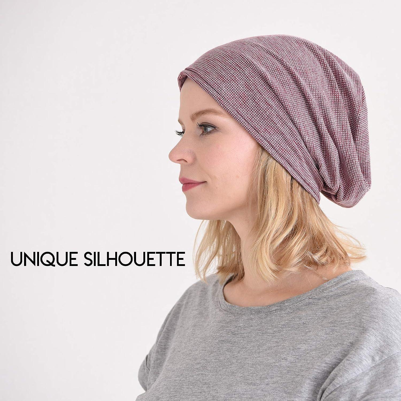 Casualbox Slouchy Beanie Hat Unique Flat Top Design Japanese Fashion Baggy Cap