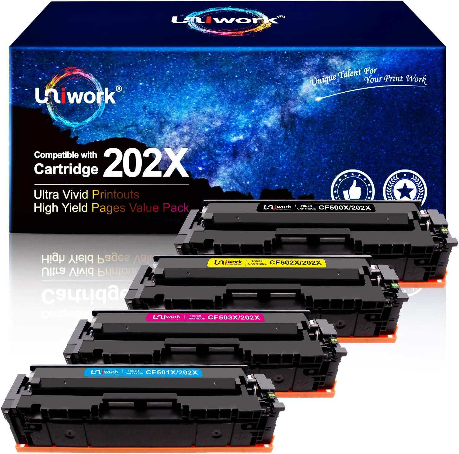 Toner para HP 202X 202A CF500X CF500A (pack. 4)