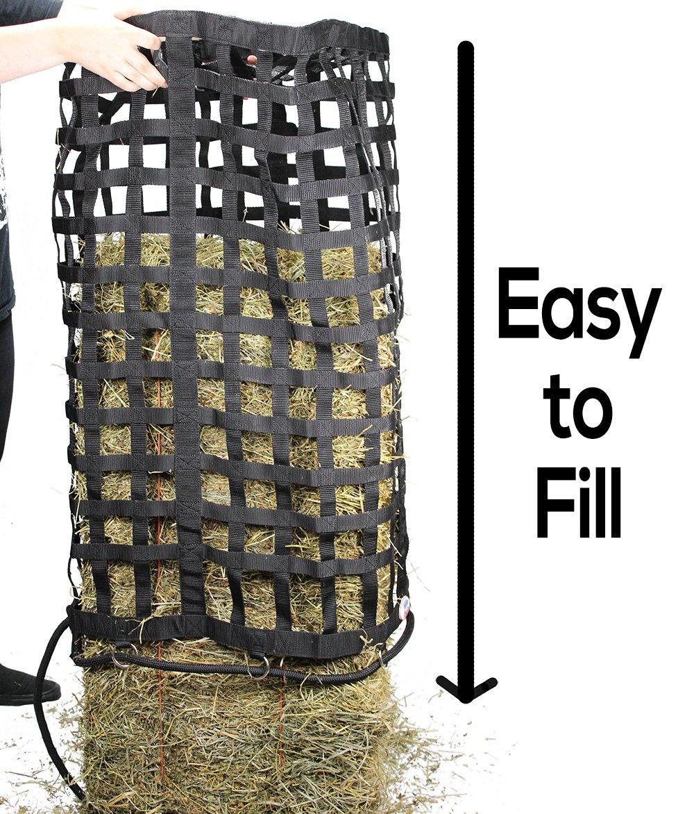 Derby Originals XL Go Around 4 Sided Slow Feed Hay Bale Bag Patented (Black) by Derby Originals (Image #2)