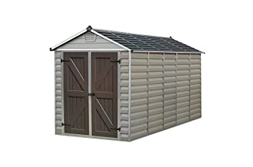 palram skylight storage shed 6 x 12 tan