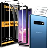 [2+3 Pack] UniqueMe Compatible For Samsung Galaxy S10 Plus Screen Protector + Camera Lens protector Tempered Glass,3D Full Co