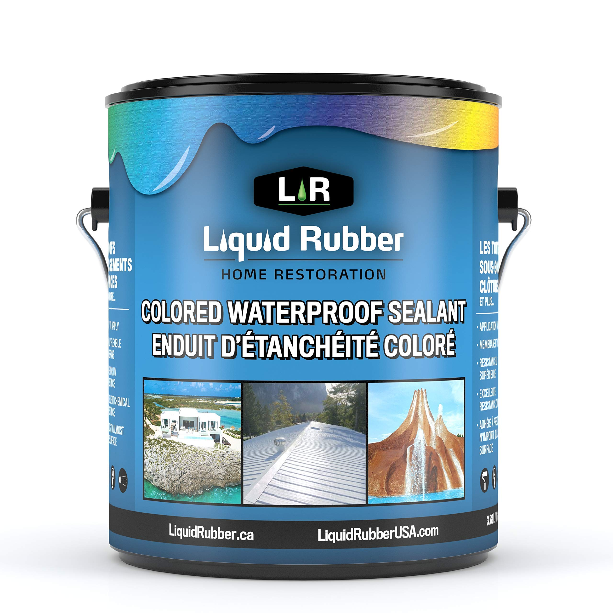 Liquid Rubber Color Waterproof Sealant/Coating - Indoor & Outdoor Use | Easy to Apply | Water Based | Light Gray | 1 Gallon product image