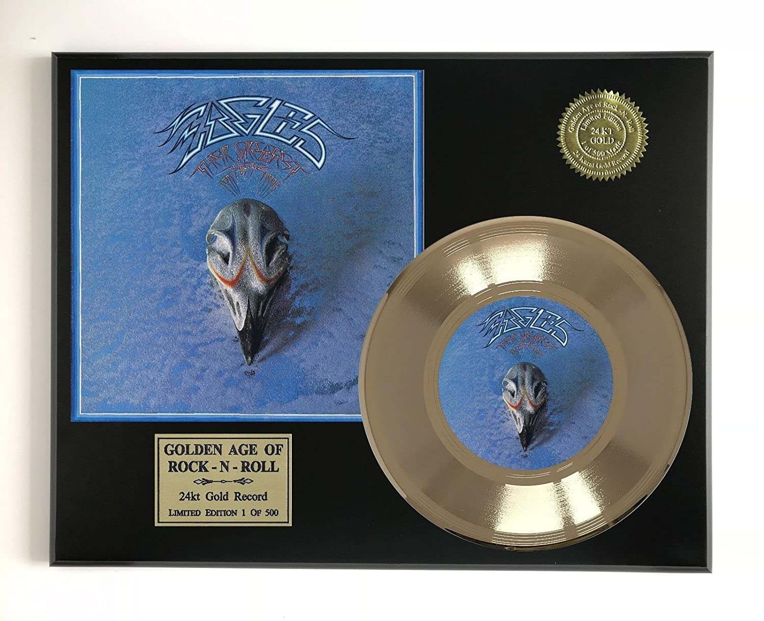 Eagles - Greatest Hits Ltd Edition Gold 45 Record Display M4