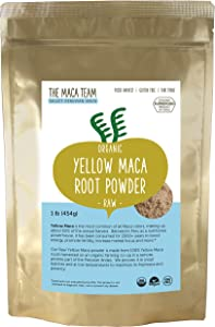 The Maca Team – Yellow Maca Root Powder – 100% Certified Organic & Fair Trade – GMO-Free – 1 Pound, 50 Servings
