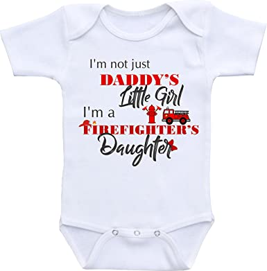 Amazon Com Firefighter Baby Clothes I M Not Just Daddy S Little