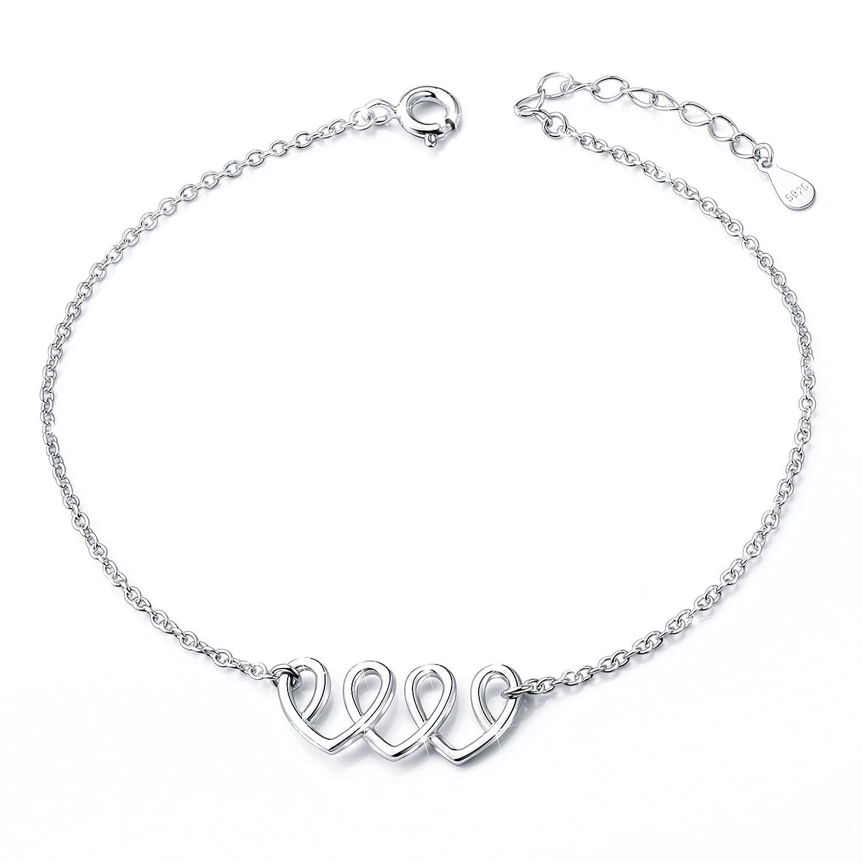 Anklet for Women S925 Sterling Silver Adjustable Foot Ankle bracelet ALPHM Jewelry Factory
