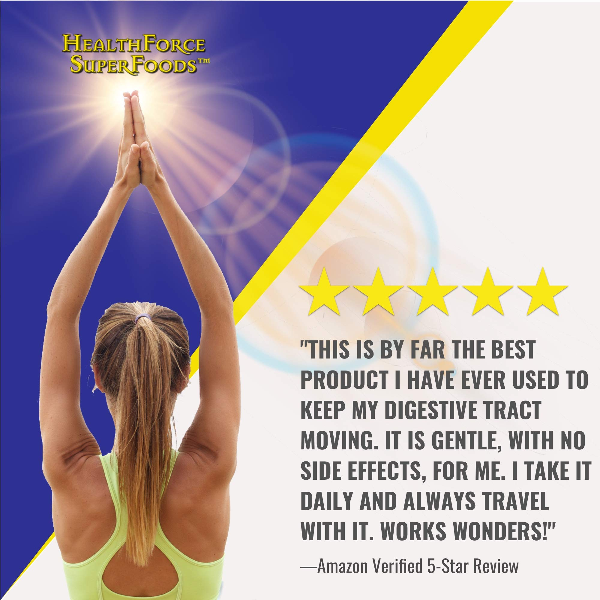 HealthForce SuperFoods Intestinal Movement Formula, Herbal Laxative, All-Natural, Organic, Non-GMO, Gluten-Free, Kosher, Vegan, 120 Count by HEALTHFORCE SUPERFOODS (Image #2)