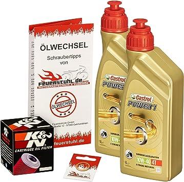 Castrol 10w 40 Öl K N Ölfilter Für Yamaha Raptor 700 Se Yfm 700 R 06 15 Ölwechselset Inkl Motoröl Filter Dichtring Auto