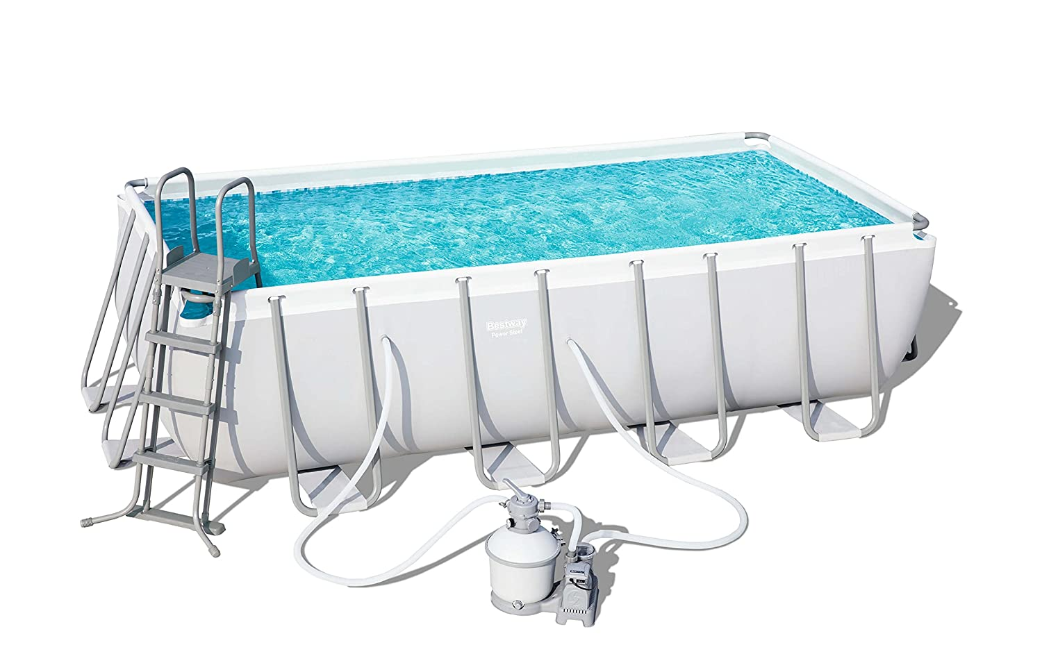 Piscina Desmontable Tubular Bestway Power Steel 488x244x122 cm: Amazon.es: Juguetes y juegos
