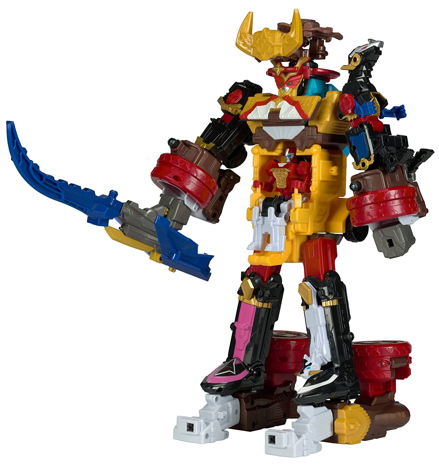Amazon.com: Power Rangers Ninja Steel Megazord Figura de ...