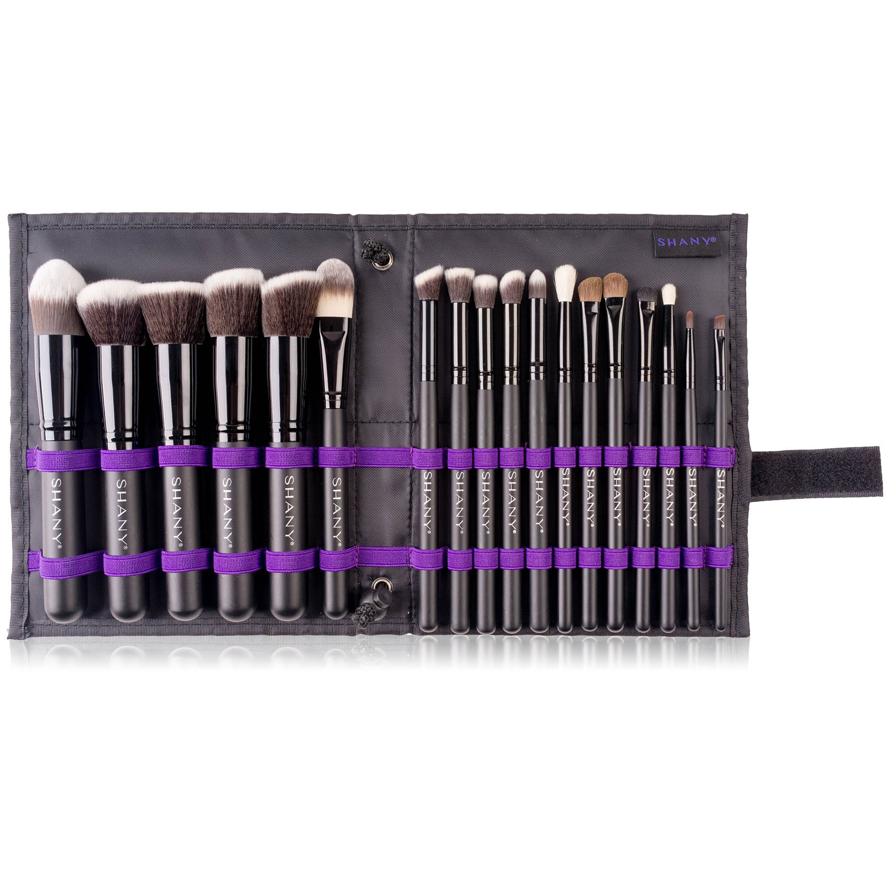 SHANY Artisan's Easel 18 Piece Elite Cosmetics Brush Collection, Black by SHANY Cosmetics (Image #9)