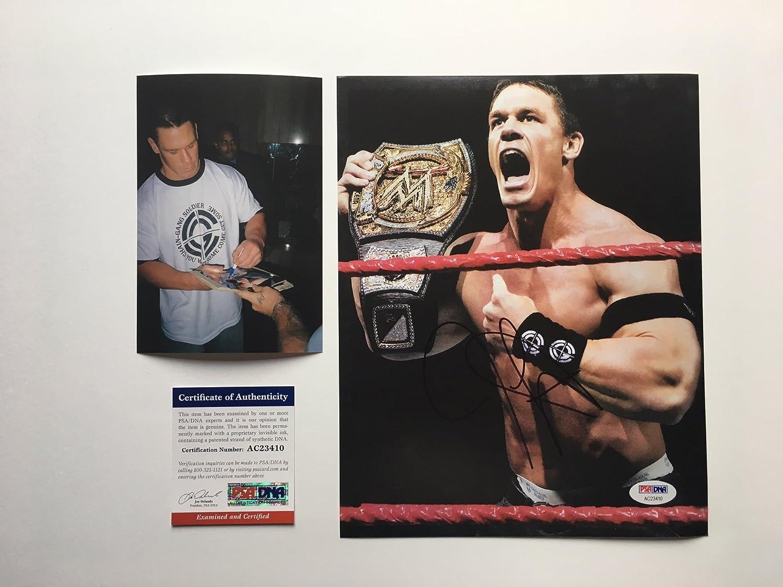 John Cena Signed WWE Champion Promo 8x10 Photo Beckett COA Autographed Wrestling Photos Beckett Authentication