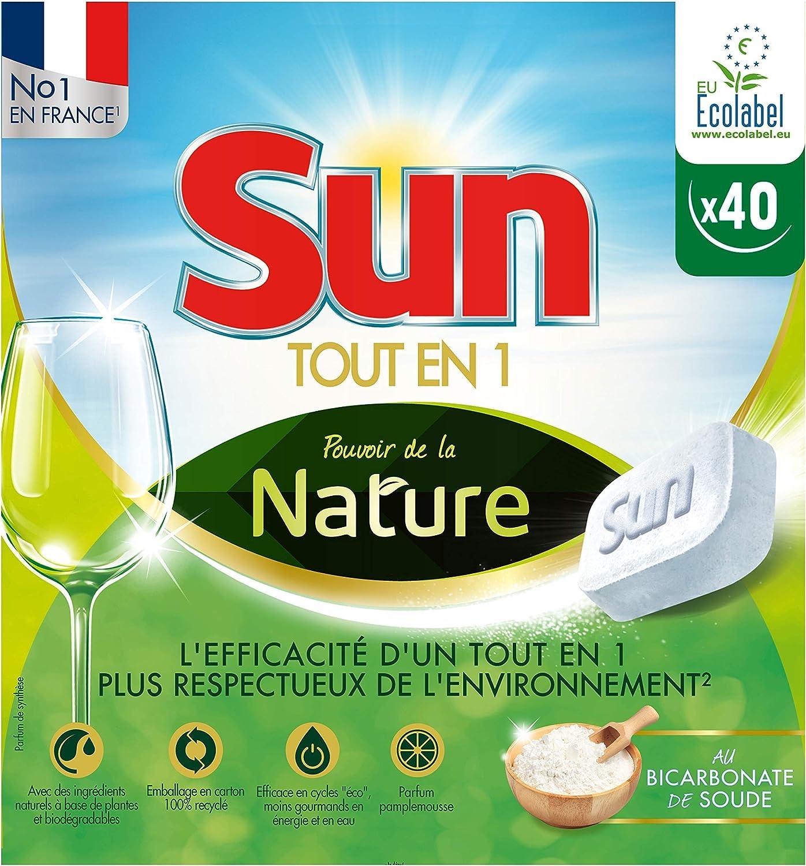 Sun Pouvoir de la Nature Tablettes Lave Vaisselle Pamplemousse 40 Lavages