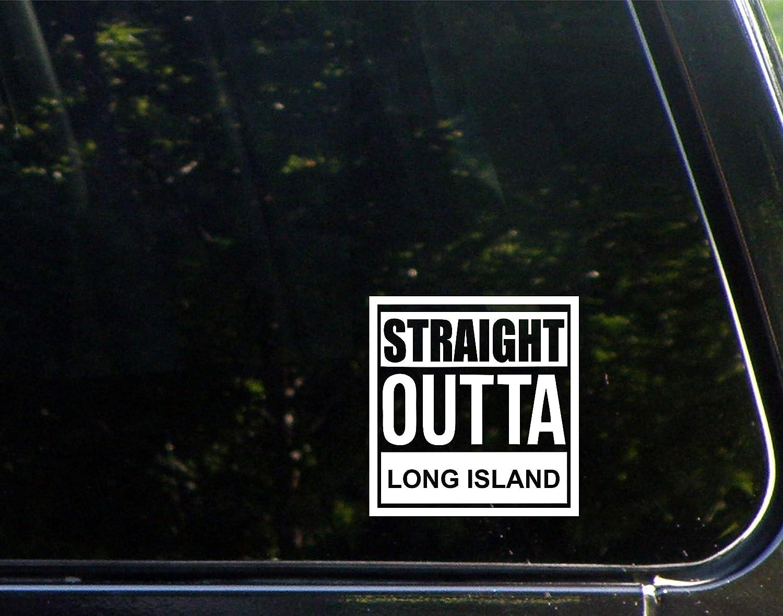 "Diamond Graphics Straight Outta Long Island (4"" X 4"") Die Cut Decal Bumper Sticker for Windows, Cars, Trucks, Laptops, Etc."