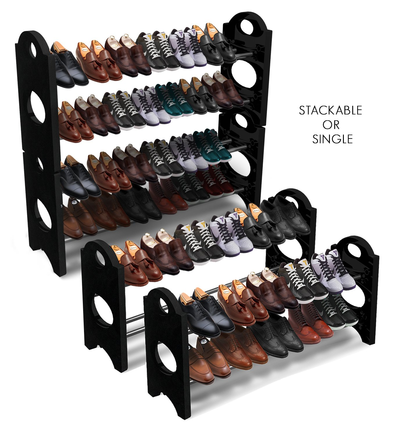 sorbus shoe rack organizer storage stackable and