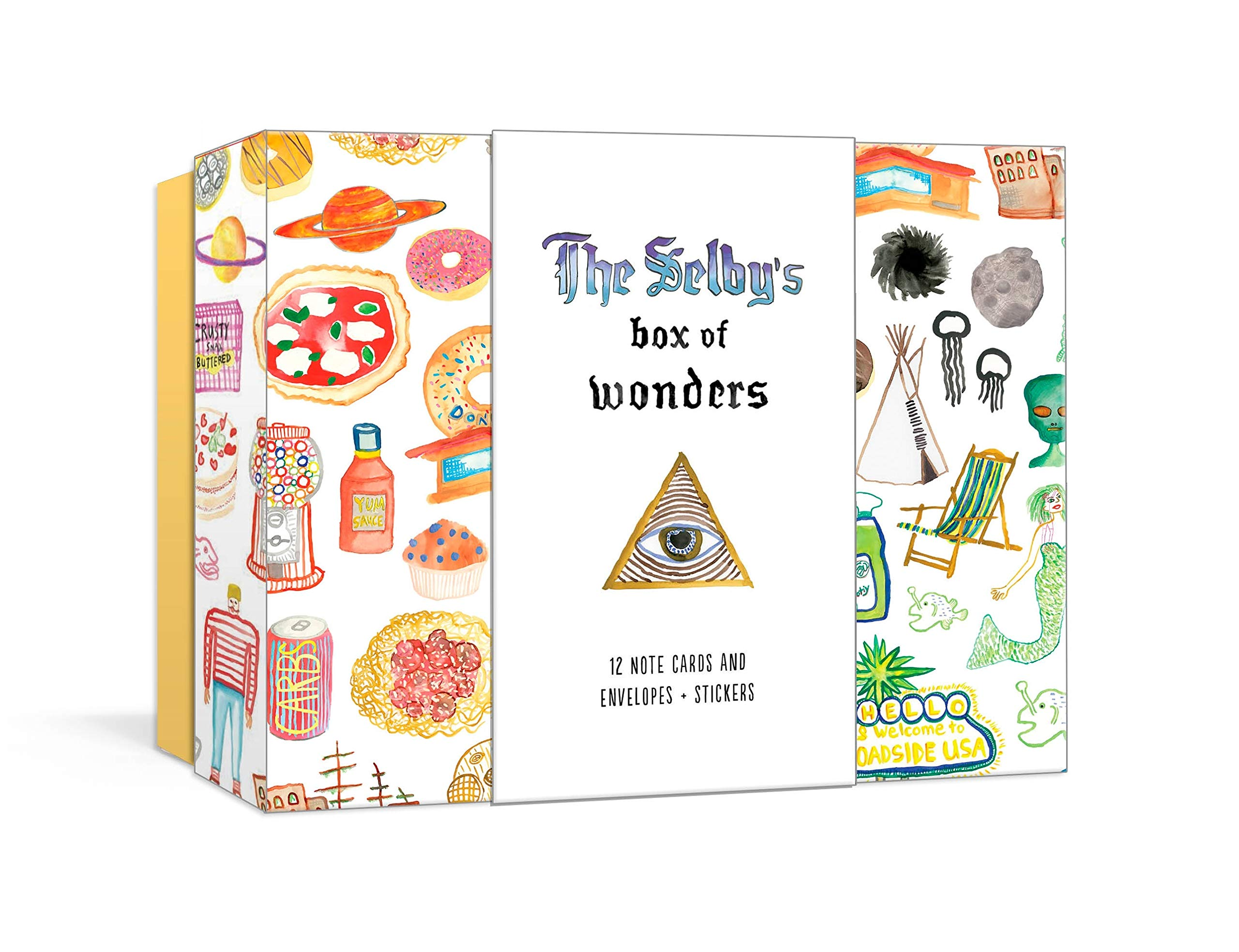 the selby s box of wonders 12 note cards and envelopes stickers